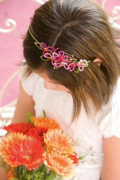 make your own customized flower girl tiara