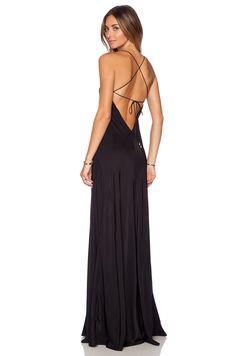 Amanda Uprichard X Back Maxi Dress in Black   REVOLVE
