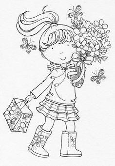 .little girl w bag
