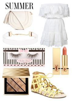 """☀Cute everyday summer outfit ☀"" by rina-shmail on Polyvore featuring LoveShackFancy, Chase & Chloe, Burberry, Yves Saint Laurent and Forever 21"