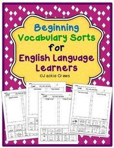 New posting and half-price for 48 hours.These vocabulary/picture sorts provide lots of reading practice with picture support. Students cut, sort, and glue the cards into two different categories per page. It's a great way for students to begin the concept of compare/contrast as well as classification.Many of my English language learners are still learning these words, so I plan to use these pages as guided activities in small groups.