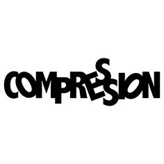 "Graphic Design I - ""Compression 3."" Created in Adobe Illustrator CS6. An exploration of expressive typography."