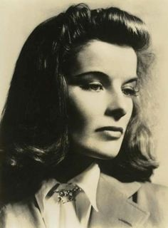 Katharine Hepburn as Tracy Lord in the theater program for the Broadway production of The Philadelphia Story (1939)