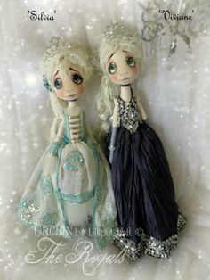Silvia & Viviane Urchin Art Dolls by Vicki at Lilliput Loft