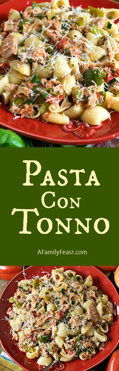 Pasta con Tonno - A delicious, gourmet version of everyone's favorite tuna and noodle dinner!