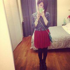 / vestito #ZaraTrf / giacca jeans #Sisley