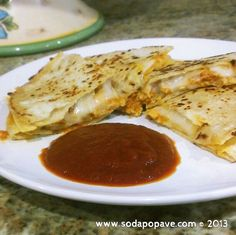 Quick and simple dinner recipe - BBQ Chicken Quesadillas #simple #dinner #recipes