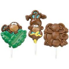 Lollipop Mold-Monkey 3 Cavities (3 Designs)