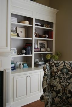 Built-in Shelves - Click image to find more Home Decor Pinterest pins