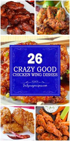 Chicken Wing Dishes For Your Dinner More Delicious – Page 2 – Healthy Food: Recipes, food and diet, weight loss Entree Recipes, Appetizer Recipes, Dinner Recipes, Cooking Recipes, Healthy Recipes, Healthy Food, Appetizers, Chicken Wing Recipes, Snacks