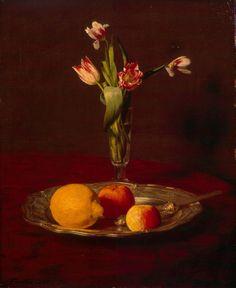 ArtArte Imagem Semanal: Tulipas Henri Fantin-Latour (1836-1904) Lemons, Apples and Tulips, 1865 L'Hermitage Museum, São Petersburgo