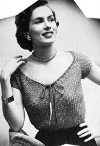 free vintage 'jewel sweater' pattern from sultana 'fashions & accessories' pattern book (also includes other sweaters, slippers, shoes & 2 bags) *freeVintageCrochet.com