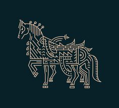 We've got a thing for horses and line art illustration. Lovely balance between a simple and intricate.