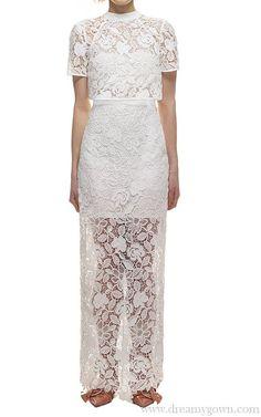 968f8181c64c 2017 Self Portrait Marcela Bridal Wedding Dress White White Wedding Dresses