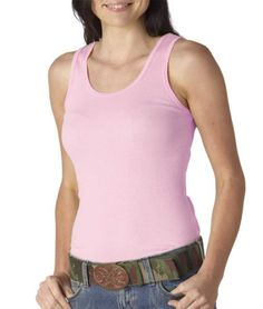 Bella Ladies 5.8 oz., 2x1 Rib Tank - WHITE - S $4.42