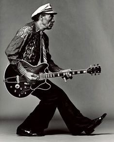 "Chuck Berry performing ""You Can't Catch Me"" from the 1956 film Rock, Rock, Rock! Introduction by Alan Freed."
