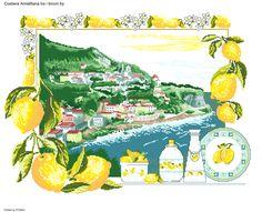 Costiera amalfitana tra i limoni 1 Dream Catcher Boho, Scenery, Cross Stitch, Punto Croce, Crossstitch, Landscape, Landscapes, Paisajes