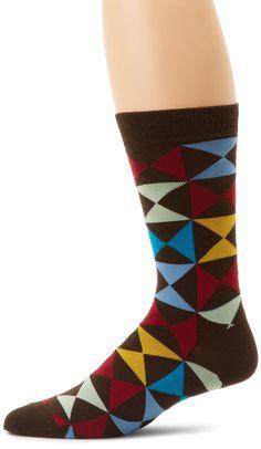 K. Bell Socks Men's Triangle Squares