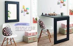 Soluções para apartamento pequeno. Veja: http://casadevalentina.com.br/blog/detalhes/decoracao-de-apartamento-pequeno-2944 #decor #decoracao #interior #design #casa #home #house #idea #ideia #detalhes #details #simple #simples #casadevalentina