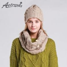 [ 40% OFF ] [Aetrends] 2Pcs Winter Beanie Scarf Set Fashion Hats For Women Scarves With Beanies Z-1338