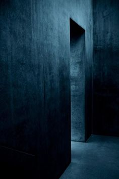 indigo washed? Dark inky blue walls
