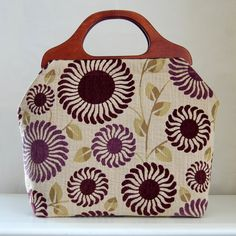 Adora Mulberry Large Craft Project Tote/ Knitting by tanneicasey