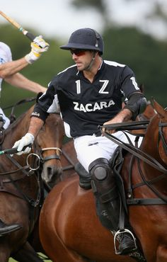 Facundo Pieres plays for Zacara vs El Remanso at the Cartier Queen's Cup Final at Guards Polo Club on 16 June 2013 in Egham, England,
