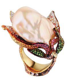 """'Magnolia"""" Pearl Ring, Jewellery Theatre"""
