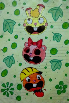 Happy Tree Friends-No oigo no veo no hablo