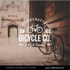 Insignia de bicicletas en estilo retro