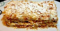 Μιλφέιγ !!! Greek Desserts, Lasagna, Ethnic Recipes, Food, Eten, Meals, Lasagne, Diet