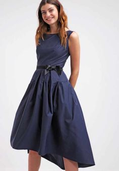 Swing Cocktail-Kleid dunkel blau
