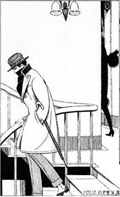 Japanese Illustratior 蕗谷虹児 Koji Fukiya (1898-1979), 1925, Paris atelier.