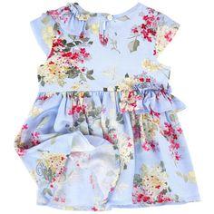Miss Blumarine - Graphic silk dress - 176540
