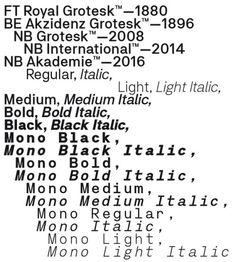 Neubau / Neubau Akademie / Typeface / 2016