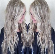 15.Long Ash Blonde Hair