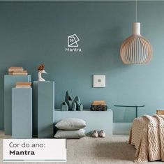 Color of the Month: Nurturing - Colorfully, BEHR New Living Room, New Room, Home And Living, Room Ideas Bedroom, Home Decor Bedroom, Home Office Decor, Home Decor Kitchen, Paint Colors For Home, House Colors