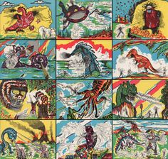 Monster Magic Action Trading Cards (1963) full set 2 of 2