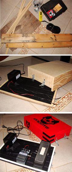 Home made pedalboard. Pedalera casera. DIY.