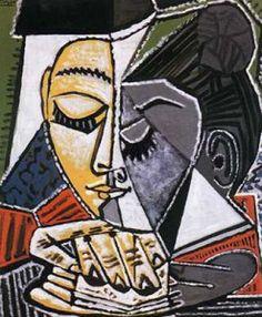 Pablo Picasso - Tête d'une femme lisant, 1952-53.
