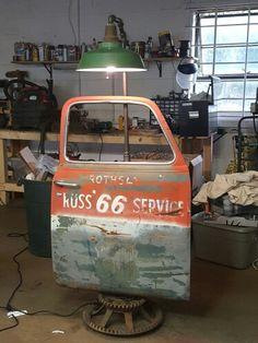 1950 truck door floor lamp