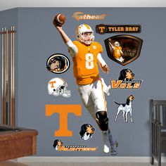 Tyler Bray Tennessee Volunteers Wall Decal Sticker