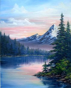 landscape paintings acrylic Rocky Mountain Sunset oil painting artwork, by Artist Joan A Brown, selected and licensed as the cover art for Waiting On God, a collection of 105 heartfelt poems by Sierra Hrappstead. Mountain Paintings, Nature Paintings, Painting Of Mountains, Oil Painting Landscapes, Sunset Paintings, Landscape Paintings On Canvas, Canvas Painting Nature, Beautiful Landscape Paintings, Art Nature