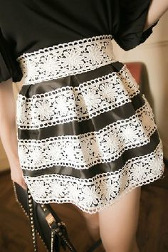 Vintage Slimming Lace Embellished Women's Bouffant Skirt (WHITE,ONE SIZE)   Vintage Skirts