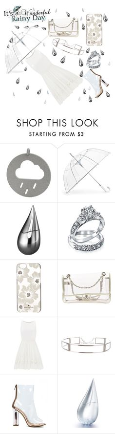 """""""Singing in a shower"""" by ugh-why-life-why ❤ liked on Polyvore featuring ShedRain, La Prairie, Bling Jewelry, Kate Spade, Chanel, Allison Parris, CÉLINE, clear and Seethru"""