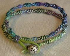 Double Wrap Woven Bracelet [Etsy]