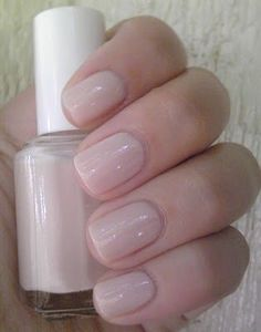 Ballet Slippers by Essie - brides should never have colored nails (i.e., red, pink, etc.) Either something like this or a french mani