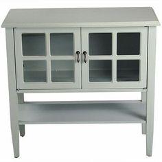 Heather Ann 2 Door Console Cabinet Finish: Sea Foam Green