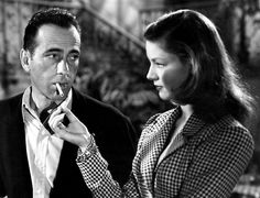 "My favorite Hollywood couple, Humphrey Bogart and Lauren Bacall, in ""To Have and to Have Not""."