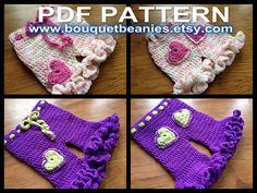Ravelry: GIRLS Bloomers & Britches Crochet Pattern - 3 Sizes pattern by Bouquet Beanies